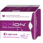 Drion Ultra-absorbent Night Pads 8 in pack | Health Products | Natural Panty liners and menstrual pads